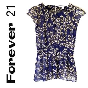 Forever 21 Floral Blouse - Size Small